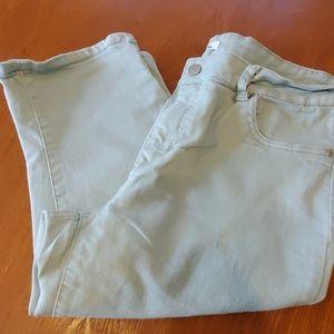 d.jeans mint color capris size 16 euc